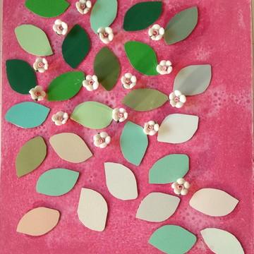 Quadro flores cerejeira