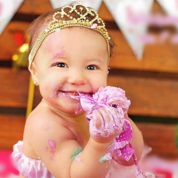Faixa bebe coroa princesa