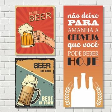 Placa Cerveja e Bar