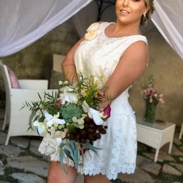 Vestido de noiva curto- inspirado na década de 20s