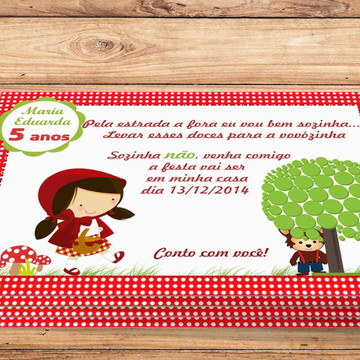 Convite Digital Chapeuzinho Vermelho