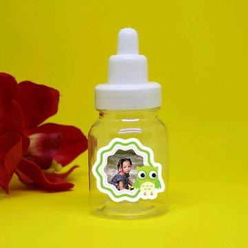 Mini-mamadeira chá de bebê com foto - coruja