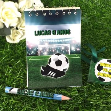 Bloquinho com mini Lápis Personalizado Futebol