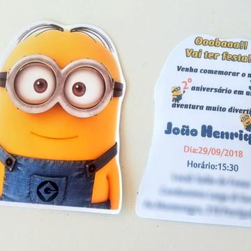 Convite Minions,