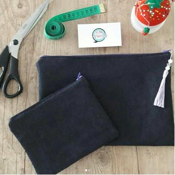 Conjunto Necessaire Reta G e P Jeans com Tassel