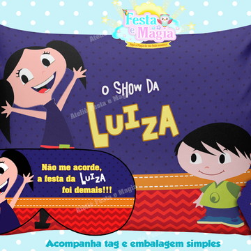 Almofadas Personalizadas Show da Luna com mascara