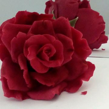 Rosa vermelha de açúcar