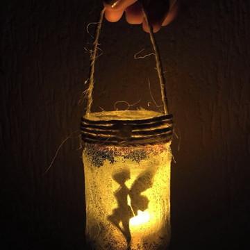 """Pote Luminária """"Casa das Fadas"""""""