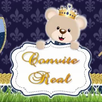 Convite Animado Urso Realeza