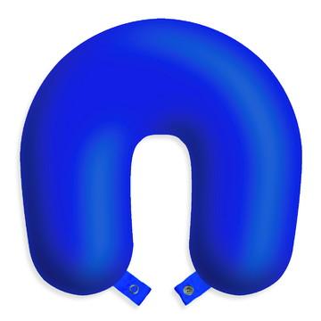 Almofada infantil travesseiro de pescoço azul para viagens