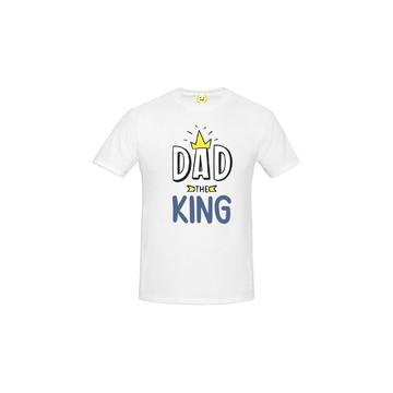 Camiseta ADULTO Dad The King - Papai O Rei - Dias dos Pais