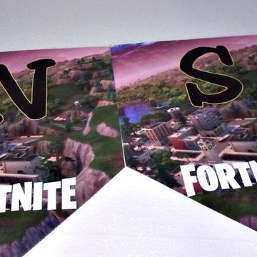 Faixa parabens + nome Fortnite personalizada