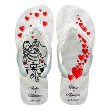 9bed28c387 Chinelos havaianas personalizados Casamento