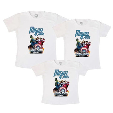 KIT camisetas personalizadas familia