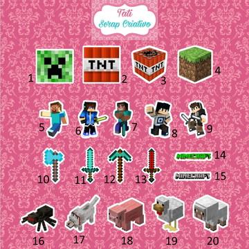 Tag Aplique Minecraft 3,5 cm