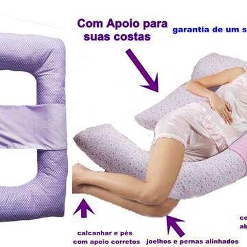 Travesseiro Gravidez Corpo Gestante/grávida C Faixa De Apoio