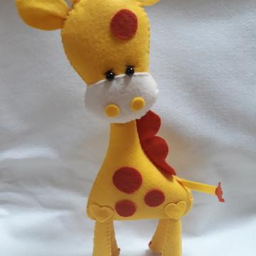 be214741c8247 Bichinhos Safari Feltro Leao e Girafa
