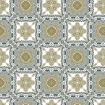 Papel de Parede Azulejos Portugueses Antigo em Tons Neutro