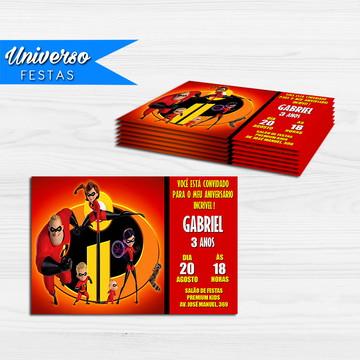 Convite Impresso - Os Incríveis 2