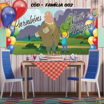 Painel festa decoração Família