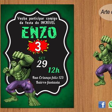 Convite Hulk DIGITAL