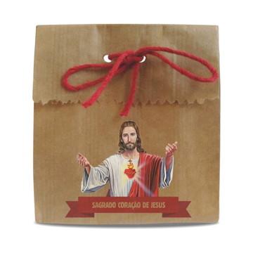 SAQUINHO PAPEL PERSONALIZADO - SAGRADO CORAÇÃO DE JESUS