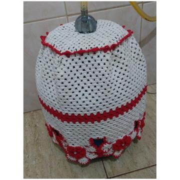 Capa de botijão de gás de croche