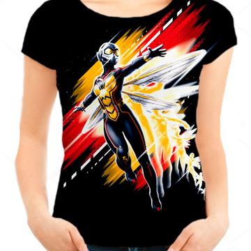 81f6a4506c Camiseta Babylook Feminina - Homem Formiga e a Vesp - Vespa