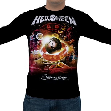 40c0639ee Camiseta Helloween - Pumpkins United - Manga Longa