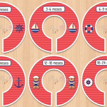 Separadores de Cabide - marinheiro - vermelho