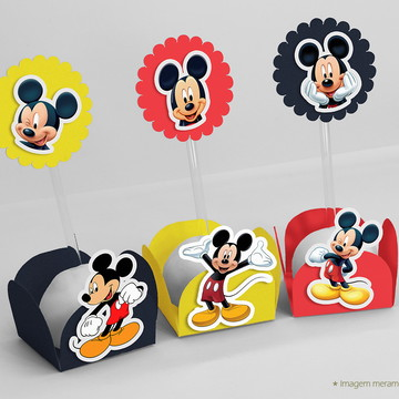 Kit Forminha Com Topper Mickey