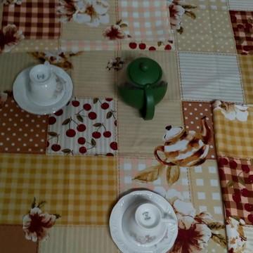 Toalha de mesa Oxford estampada