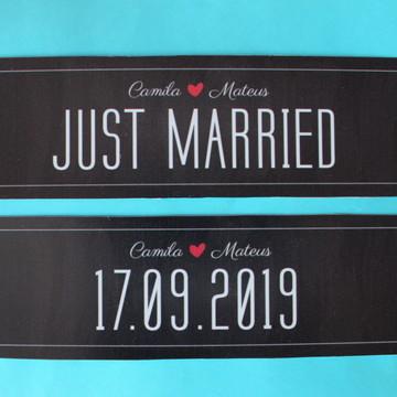 2 Placas para Carro - Chalkboard