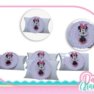 Caixa Travesseiro - Minnie Rosa