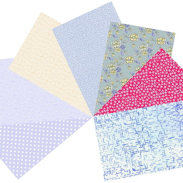 Kit Tecidos Patchwork Azul Celeste #7 50cm x 70cm