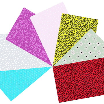 Kit Tecidos Patchwork Rosa e Cinza #7 50cm x 70cm