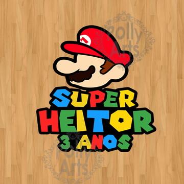 Logo Personalizado Super Mario Nome da Criança
