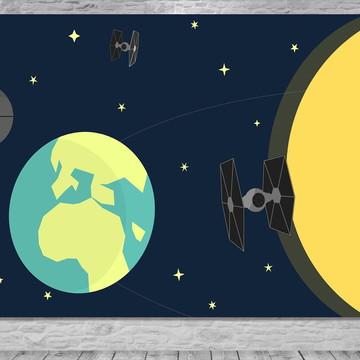 Painel Planetas - Universo - Frete Grátis.