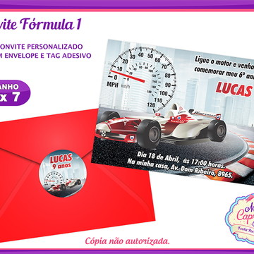 Convite Fórmula 1