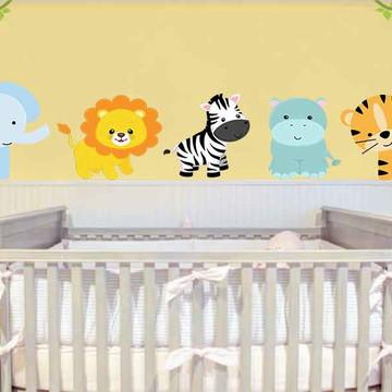 adesivo safari para quarto de bebê
