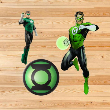 Adesivo ou aplique do Lanterna Verde