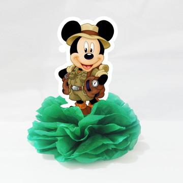 Centro De Mesa Display Enfeite Lembrancinha Mickey Safari