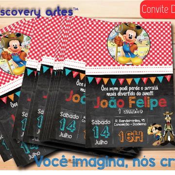 Convite Digital Mickey Caipira