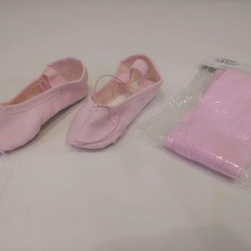 d27ba8629c Kit Ballet Sapatilha e Meia Calca de Ballet Infantil