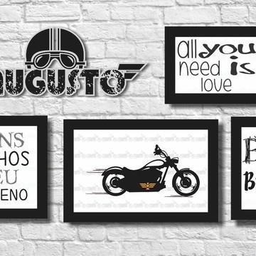 kit quadros menino motociclista