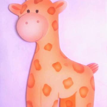 Aplique MDF Girafa Grande