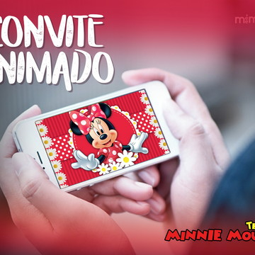 Convite Animado - Minnie Mouse