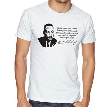 Camiseta Infantil Blusa Criança Martin Luther King frase