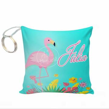 lembrancinha flamingo chaveiro