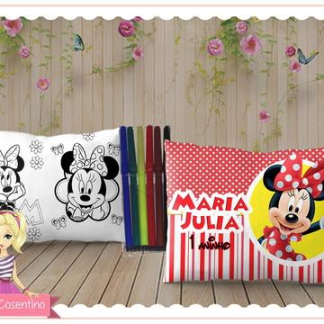 Almofada Pinte e Lave 15x20 - Minnie
